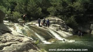 "Ardèche Outdoor sud France, Domaine de Chaussy ""Initiation au canyoning en famille"""