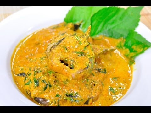 แกงคั่วปลาดุกใบยี่หร่า Catfish Curry with Cumin Leaves