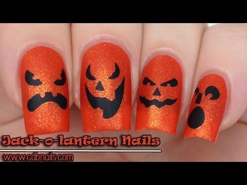 Jack-o-lantern Faces Nails