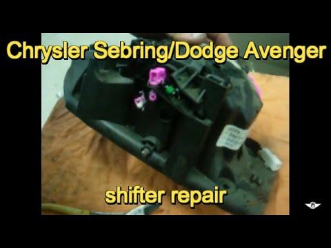 Chrysler Sebring And Dodge Avenger Shifter Repair Youtube. Chrysler Sebring And Dodge Avenger Shifter Repair. Chrysler. 2008 Chrysler Sebring Shifter Cable Parts Diagram At Scoala.co