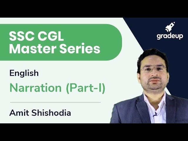 SSC CGL Master Series | English | Narration (Part-I)