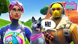 LITTLE KELLY GETS A TALKING DOG! - * NEW PET * Fortnite Short Films