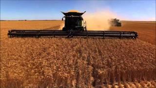 Video 60' Largest Headers in the World on John Deere S690 Harvest Combines 1 download MP3, 3GP, MP4, WEBM, AVI, FLV November 2017
