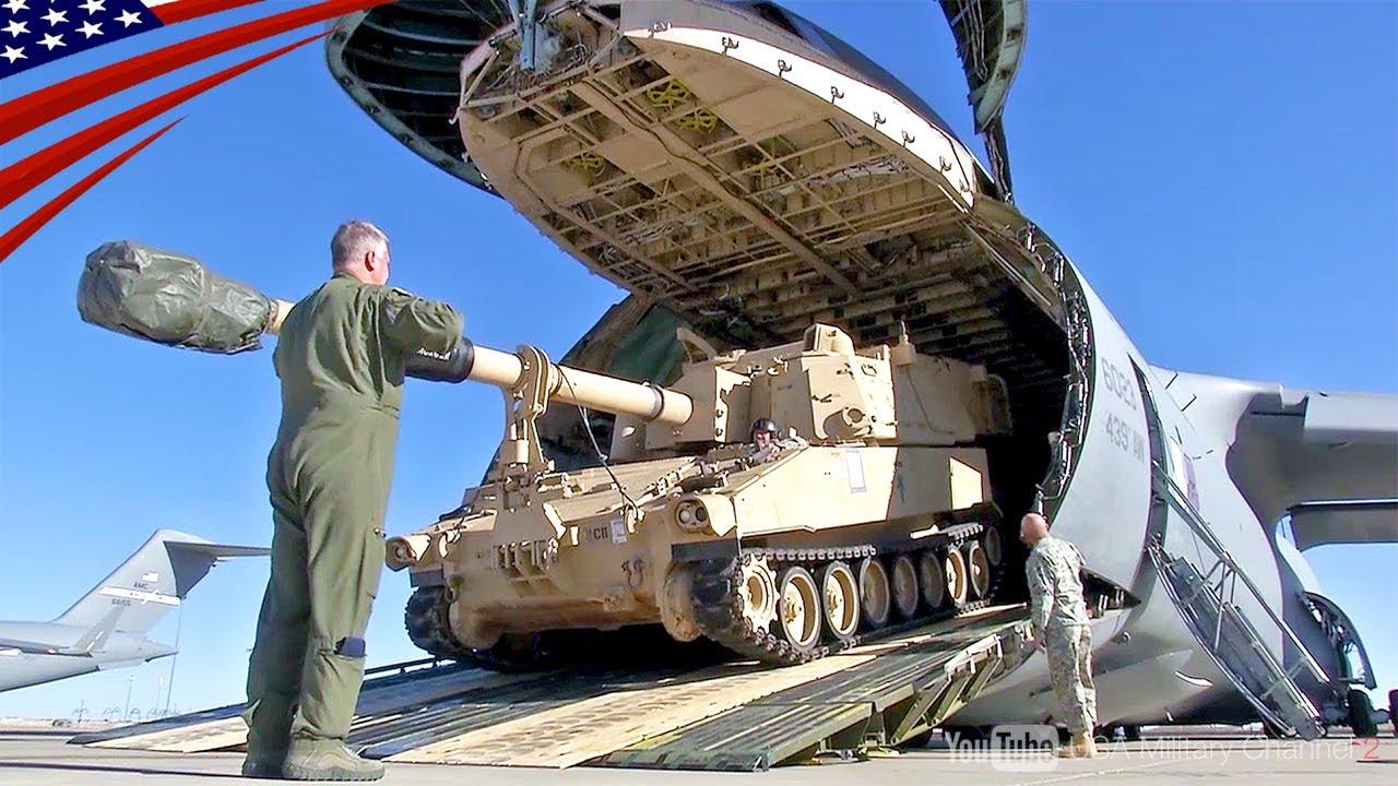 戦車も積める】米軍最大の輸送機 C-5ギャラクシー - YouTube
