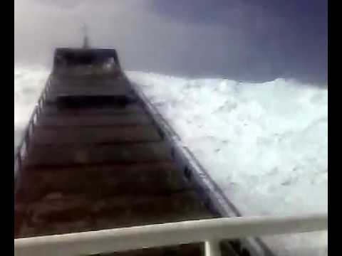 FREAK WAVE HITS SHIP