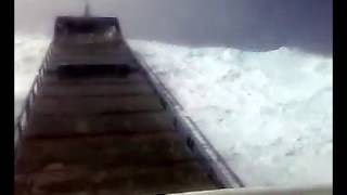 FREAK WAVE HITS SHIP