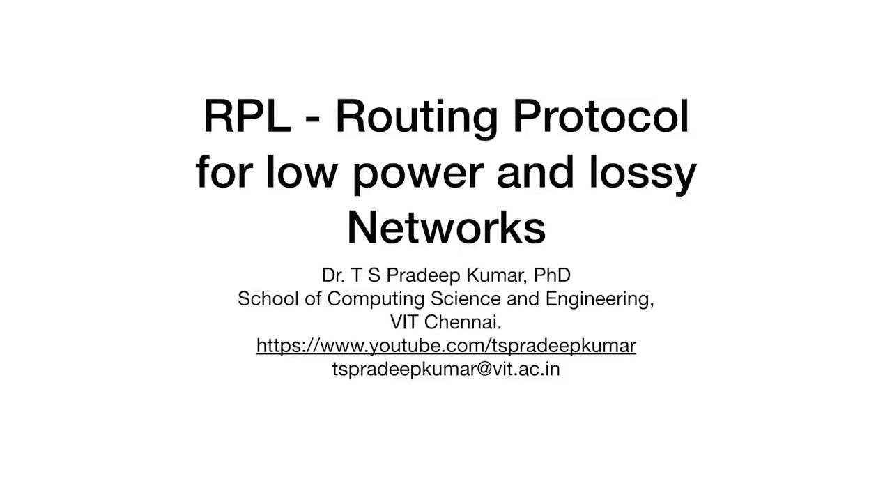 Download RPL Protocol | Week 3 | IOT Online course