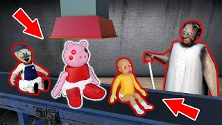 Granny vs baby Piggy, baby Ice Scream - funny horror animation parody (all series about Piggy)