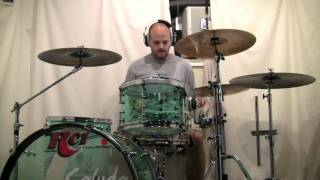 "DJ Shadow drum cover ""building steam with a grain of salt."""