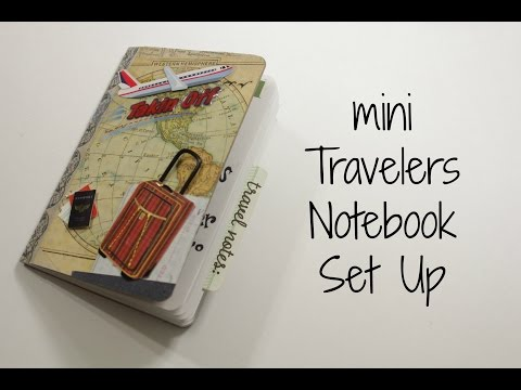 Planner: ✈ mini Travelers Notebook setup
