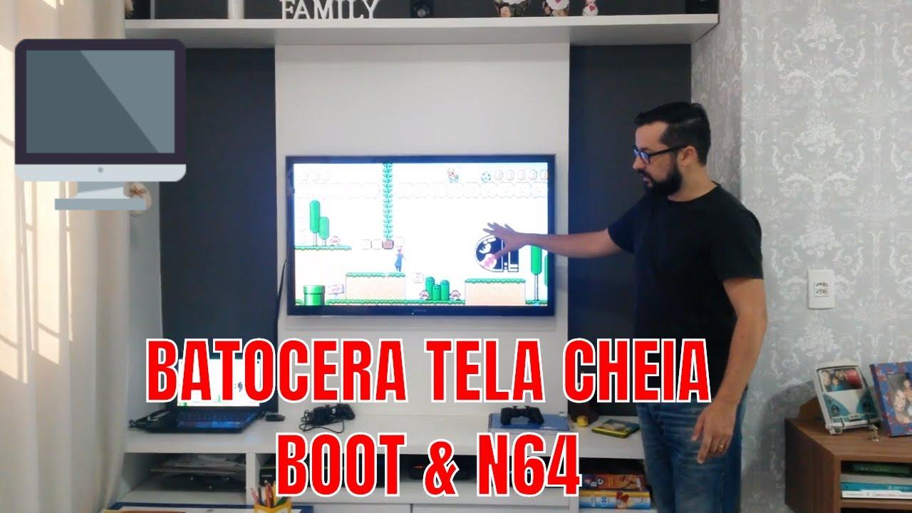 BATOCERA - Boot e Nintendo 64 TELA CHEIA