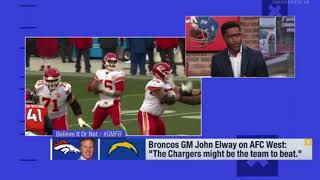 Broncos GM John Elway on AFC West The Chargers might be the team to beat | NFL NEWS 2018