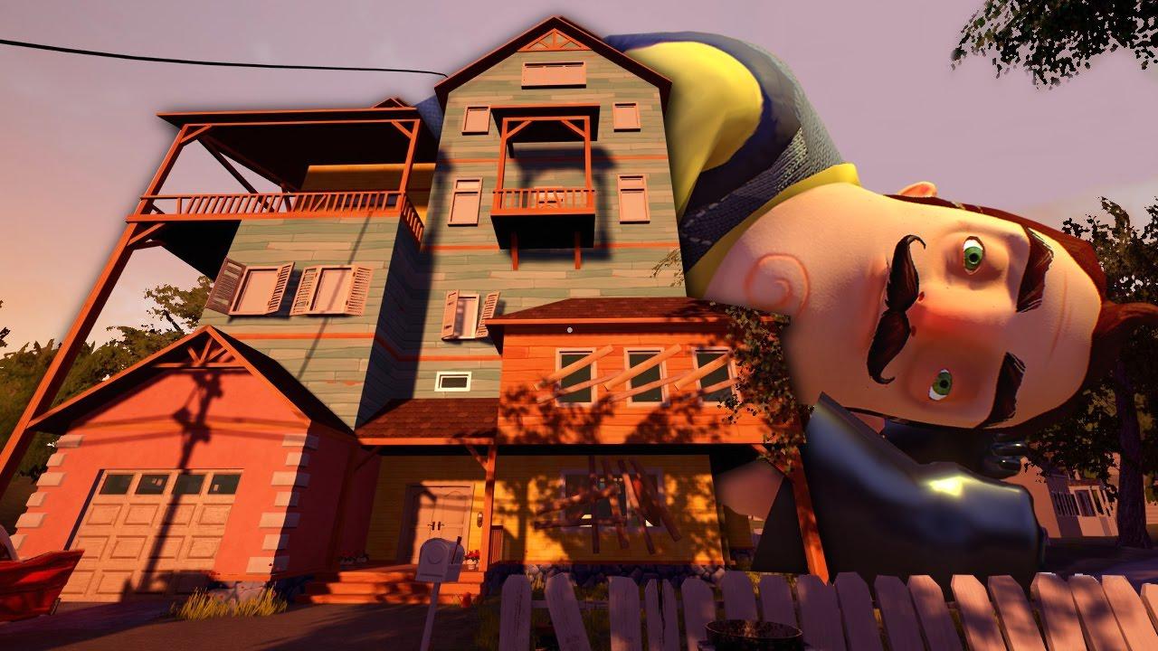 The hello neighbor house - New House New Basement New Secrets Hello Neighbor Update Gameplay Youtube