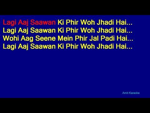 Lagi Aaj Saawan Ki Phir Woh Jhadi Hai - Suresh Wadkar Hindi Full Karaoke with Lyrics