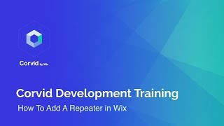 How To Add A Repeater in Wix | Corvid by Wix Tutorial