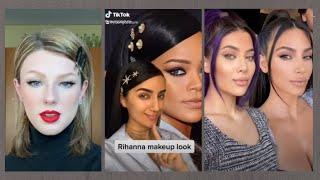CELEBRITY TIKTOK MAKEUP TRANSFORMATIONS | recreating celebrities makeup looks compilation 2021
