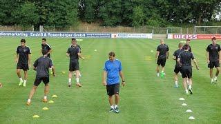 La plantilla del Málaga CF realiza su primer entrenamiento en Alemania