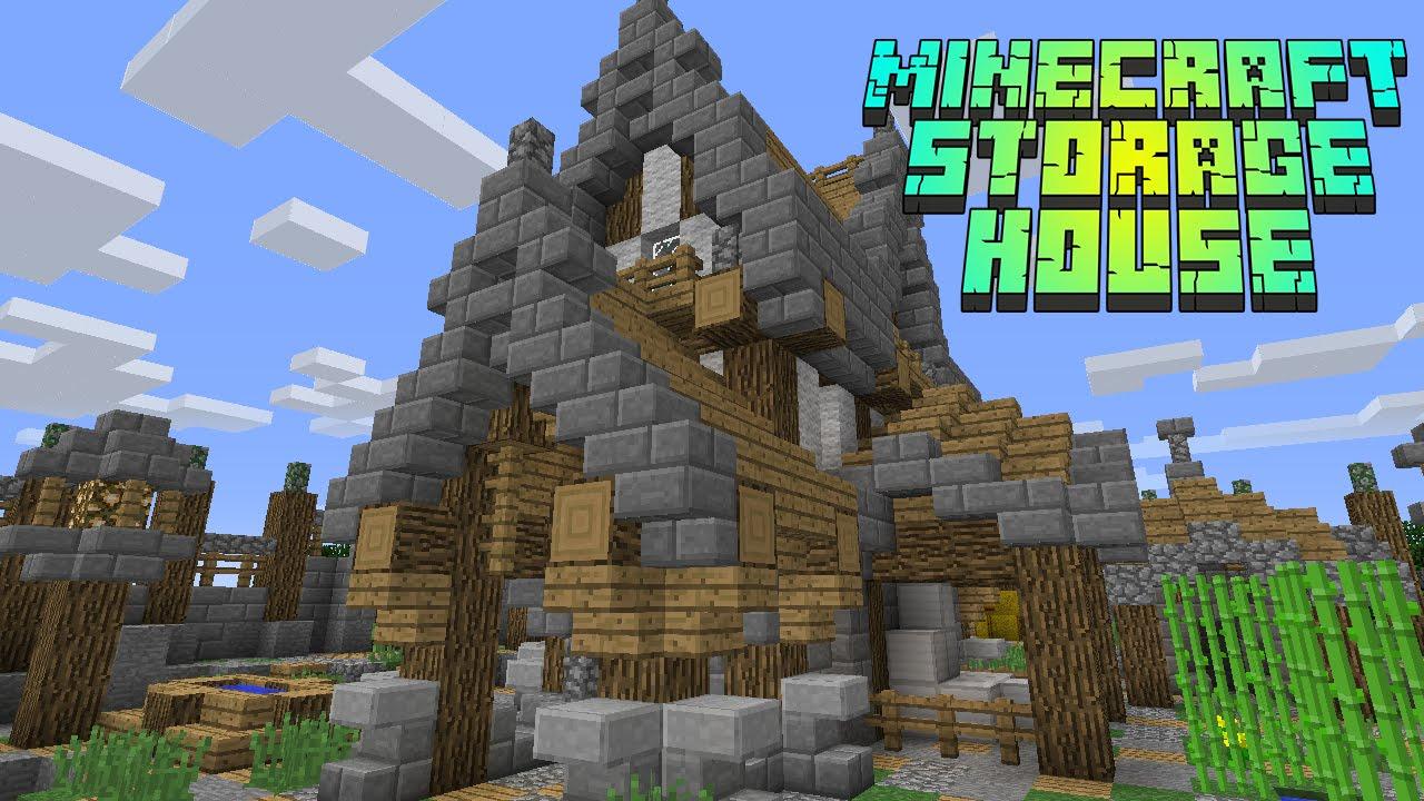 Minecraft Timelapse Medieval Storage House Amazing
