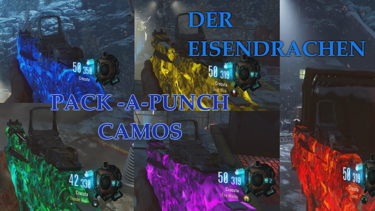 Pack A Punch Camos In New Der Eisendrachen Map Black Ops 3