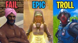 FAIL vs EPIC vs TROLLS - Fortnite Battle Royale Funny Moments