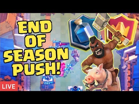 LIVE END OF SEASON PUSH! | Can We Get Close To Champion League?! | Clash Royale