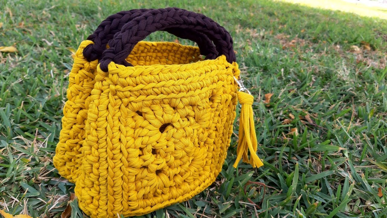 Crochet Bag Granny Square - Parte 1 Nuevo Proyecto