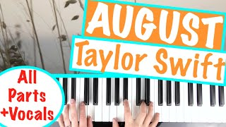 "How to play ""AUGUST"" - Taylor Swift 