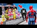 WILL SPIDERMAN SAVE ALL GIRL ANIMATRONICS FROM VENOM? (GTA 5 Mods FNAF RedHatter)