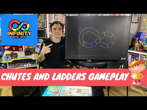 Infinity Game Table by Arcade1Up - Gameplay Showcase - Chutes and Ladders Digital Board Game from UrGamingTechie