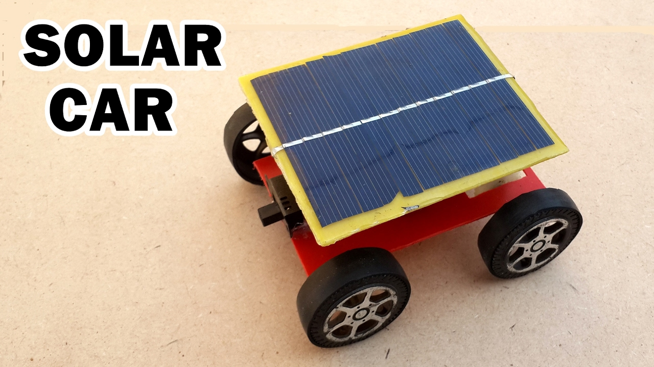 How To Make A Solar Powered Toy Car At Home Youtube