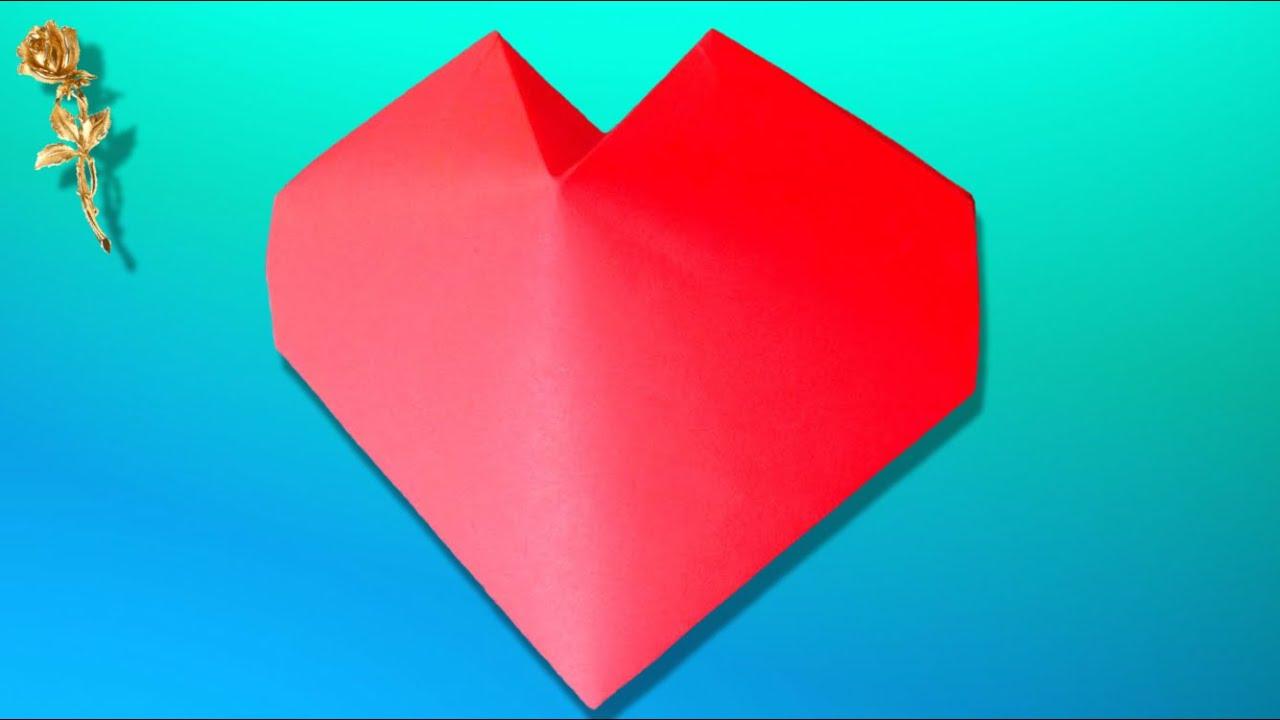 tuto origami coeur 3d