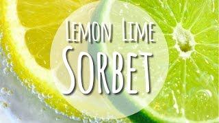 Homemade  Lemon Lime Sorbet