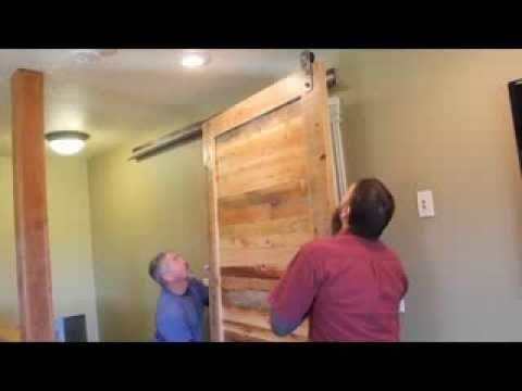 Rlp Barn Door Hardware V Track Install With Header Youtube