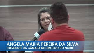 Ângela Maria (Anginha) - Posse da mesa diretora câmara municipal de Limoeiro do Norte