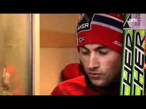 Petter Northug - Funny Interview after Tour de Ski 2011 relay(15 km)
