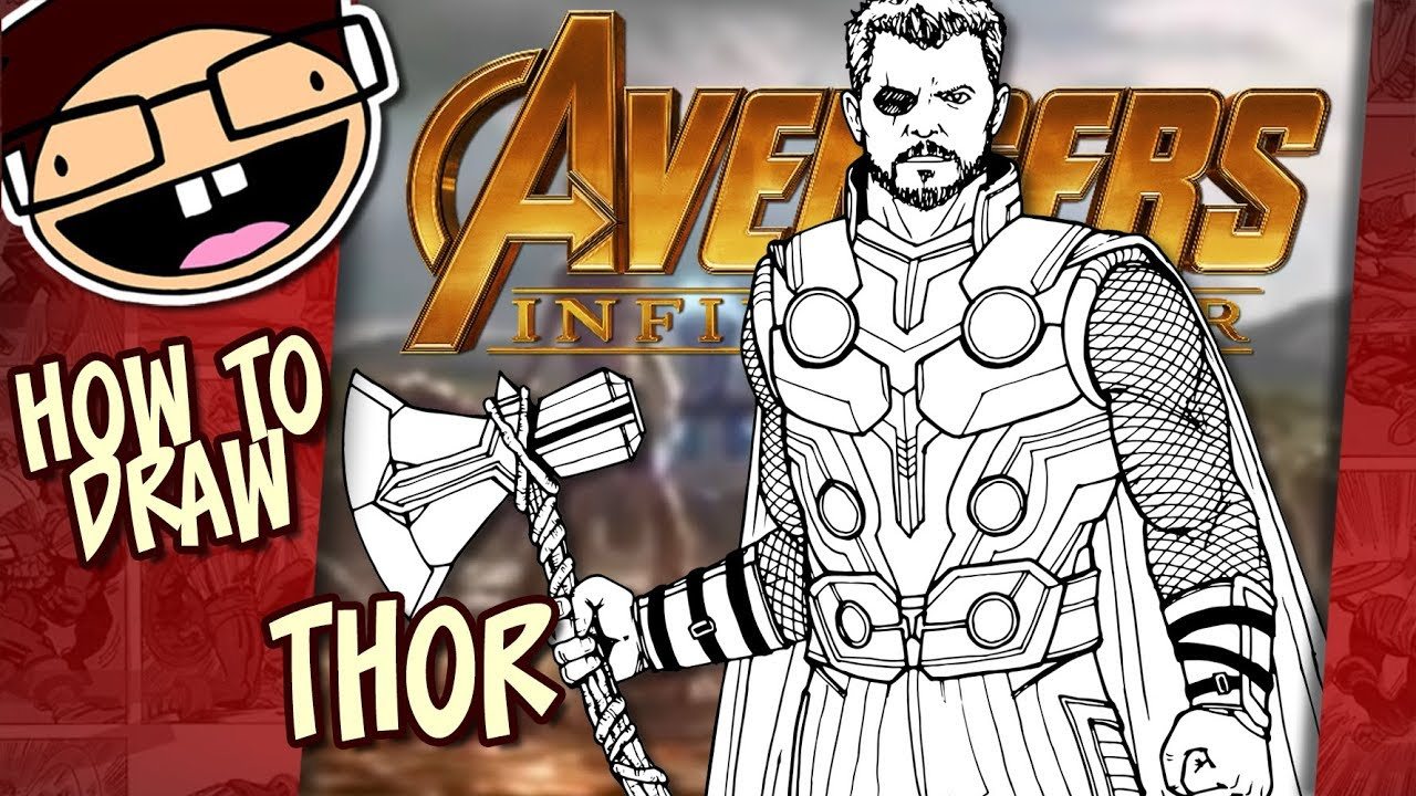 How To Draw Thor Avengers Infinity War Narrated Easy Step By Step Tutorial