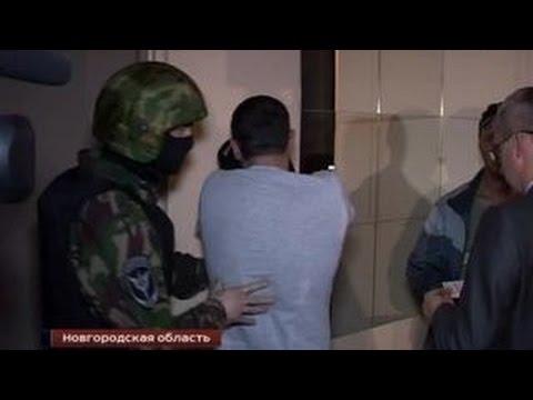 Кадры захватов и обысков в подпольных казино Великого Новгорода
