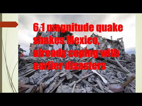 Mexico hit by another strong earthquake Central Mexico Earthquake SOS ALert