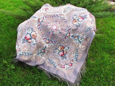 Шелковые павлопосадские платки в продаже в интернет