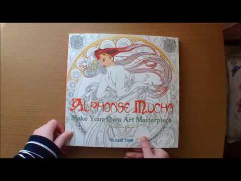 - Alphonse Mucha, Make Your Own Masterpiece By Dairy Seal And David Jones Colouring  Book Flip Through - YouTube