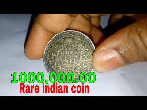GEORGE 6 KING EMPEROR 1944 RARE INDIAN OLD COIN VALU,PRICE