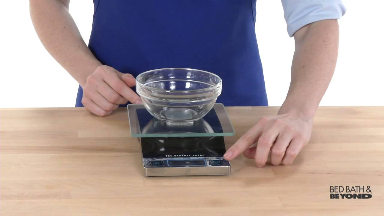 Sharper Image Digital Food Scale At Bed Bath Beyond Youtube