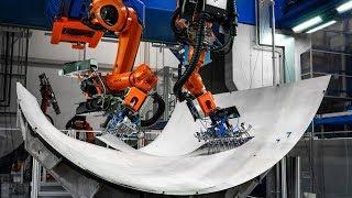 Automatisierte Produktion von Flugzeugrümpfen aus Aluminium-Glasfaser-Laminat