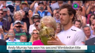 Andy Murray has won his second Wimbledon title