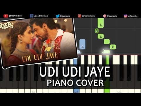 Udi Udi Jaye Raees|Shah Rukh Khan|Hindi Song| Piano Chords Tutorial Instrumental Karaoke By Ganesh