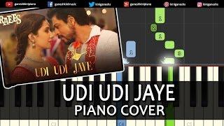 Download Hindi Video Songs - Udi Udi Jaye Raees|Shah Rukh Khan|Hindi Song| Piano Chords Tutorial Instrumental Karaoke By Ganesh