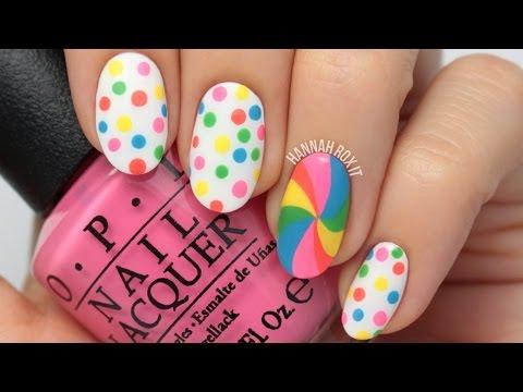 Candy Dot Lollipop Nail Art