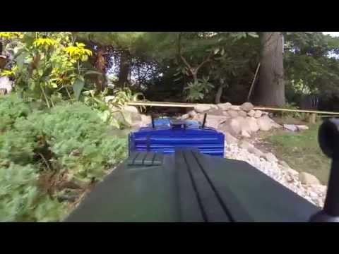Garden Railroad Caboose View
