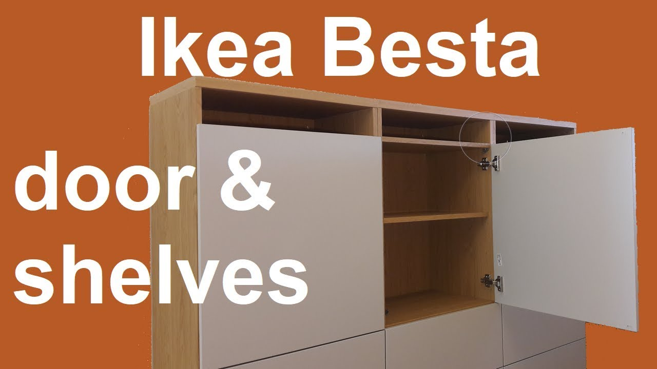 Ikea Besta shelves and door assembly and adjustment