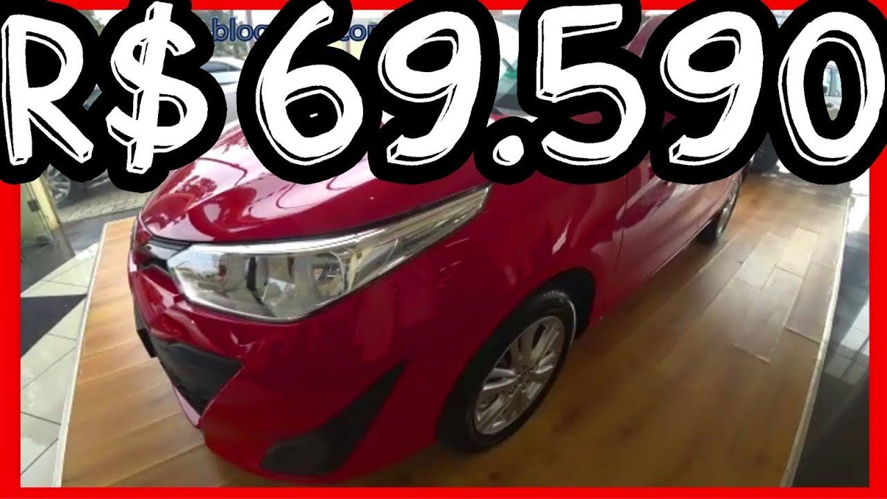 R$ 69.590 SHOWROOM Toyota Yaris Hatch XL Plus Tech 2019